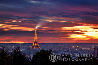 Paris Skyline at Sunset