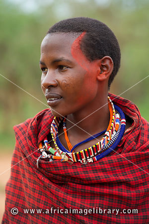 Maasai warrior, Selenkay Conservancy, Kenya