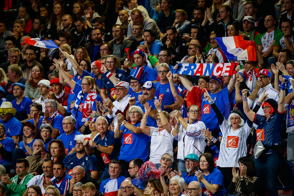Fans during the EHF EURO Croatia 2018 - Preliminary round -  Group B - Belarus vs Austria in Zatika Sports Centre, Porec, Cro...