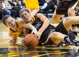 Quincy vs Iowa Womens Basketball Exhibition Game, November 4, 2012