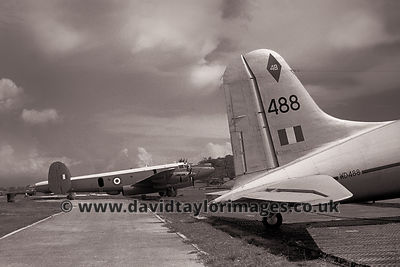 Parked for the Aircraft Servicing Flight | Shackleton 2c WL756 and Hasting WD488 | RAF Changi June 1962