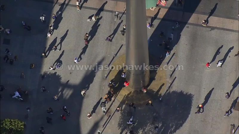 Aerial footage of The Spire, Dublin