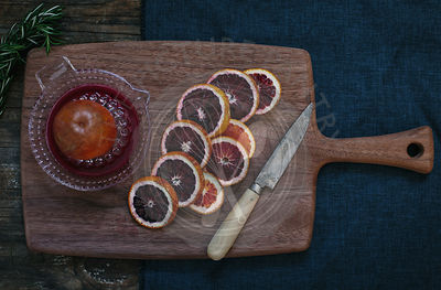 Blood Oranges with Fresh Rosemary