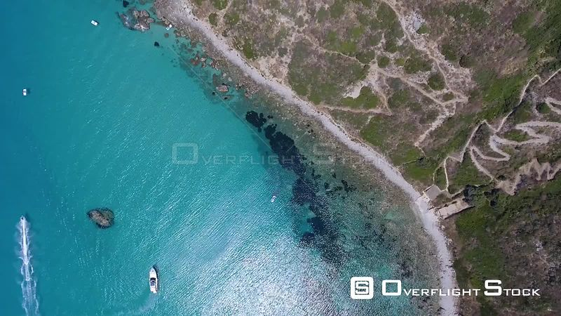 Aerial view of Capo Vaticano coast on a beautiful summer day, Calabria  Italy