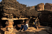 Casa palava or togu na, a meeting place reserved for men, Songo, Dogon Country, Mali