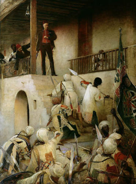 Facing death … George William Joy's The Death of General Gordon, Khartoum, 26th January, 1885. Photograph: Leeds Museum and G...