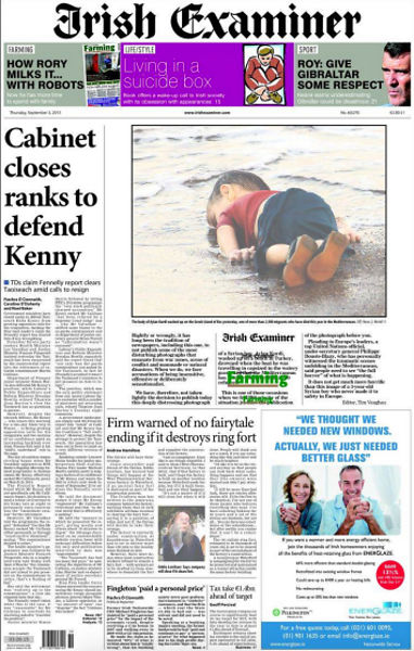 drowned-migrant-boy-irish-examiner-front-page