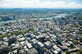 downtown and WIllamette River; Portland, Oregon