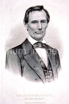 Hon. Abraham Lincoln our next president c 1860
