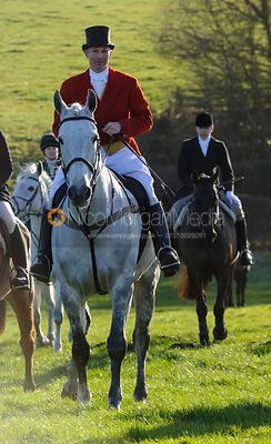 At the meet - The Belvoir Hunt at Stonesby, 19/12