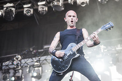 Zach Blair of Rise Against, Aftershock 2014