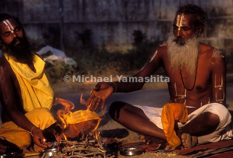 Sadhus gather regularly from all over India. Here they are in Junagadh, in Gujarat.