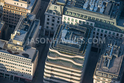 Aerial view of London, Haymarket and Regent Street.