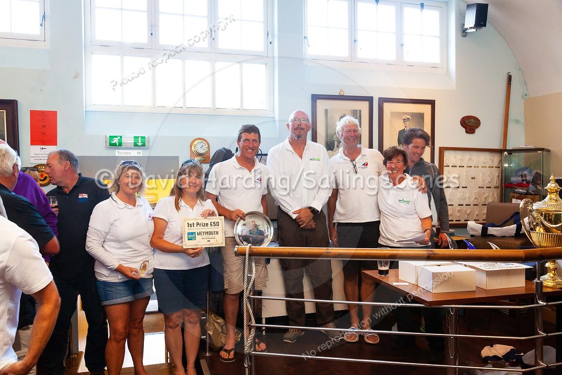 Prize-giving at Weymouth Regatta 2018, 20180909015.