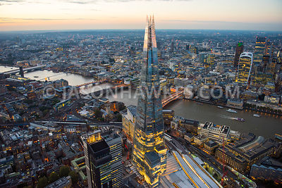 The Shard at dusk