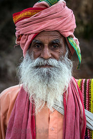 The resident baba at the August Muni cave temple, Pushkar, Rajasthan, India. He told me this is the only photo ever taken of ...