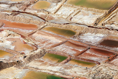 Aerial view of residues dumped from a metal mine, Johannesburg, South Africa, April 2009