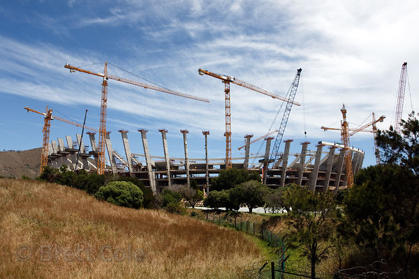 Construction of a new soccer stadium for the 2010 World Cup, Greenpoint, Cape Town, South Africa
