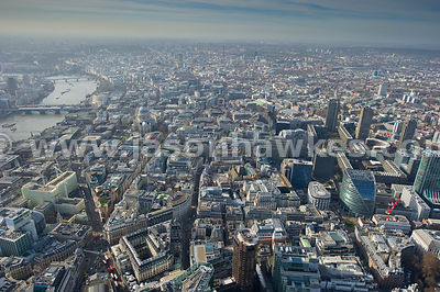 Aerial view of Bank, Aldwych, London