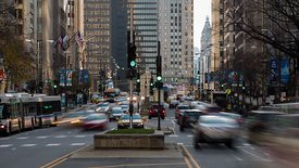 Close Up: Rush Hour Down Michigan Avenue