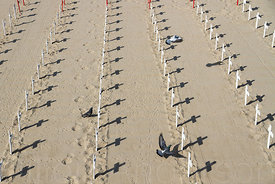 Crosses to represent those killed in the war in Iraq, Santa Monica Peer, Los Angeles