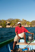 Boat at Mumbo island, Lake Malawi National Park, Malawi