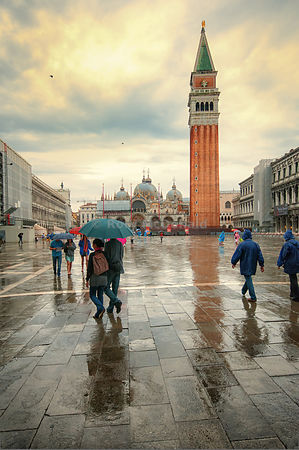 St Marks Square in the rain