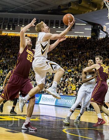 Iowa vs Minn Mens Basketball 1-19-14