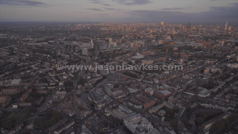 Aerial footage of Camden Town and Somers Town