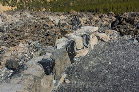 Rock Wall in Newberry National Volcanic Monument