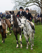 HB and Lucy Butler - The Cottesmore Hunt's Boxing Day meet 2013.