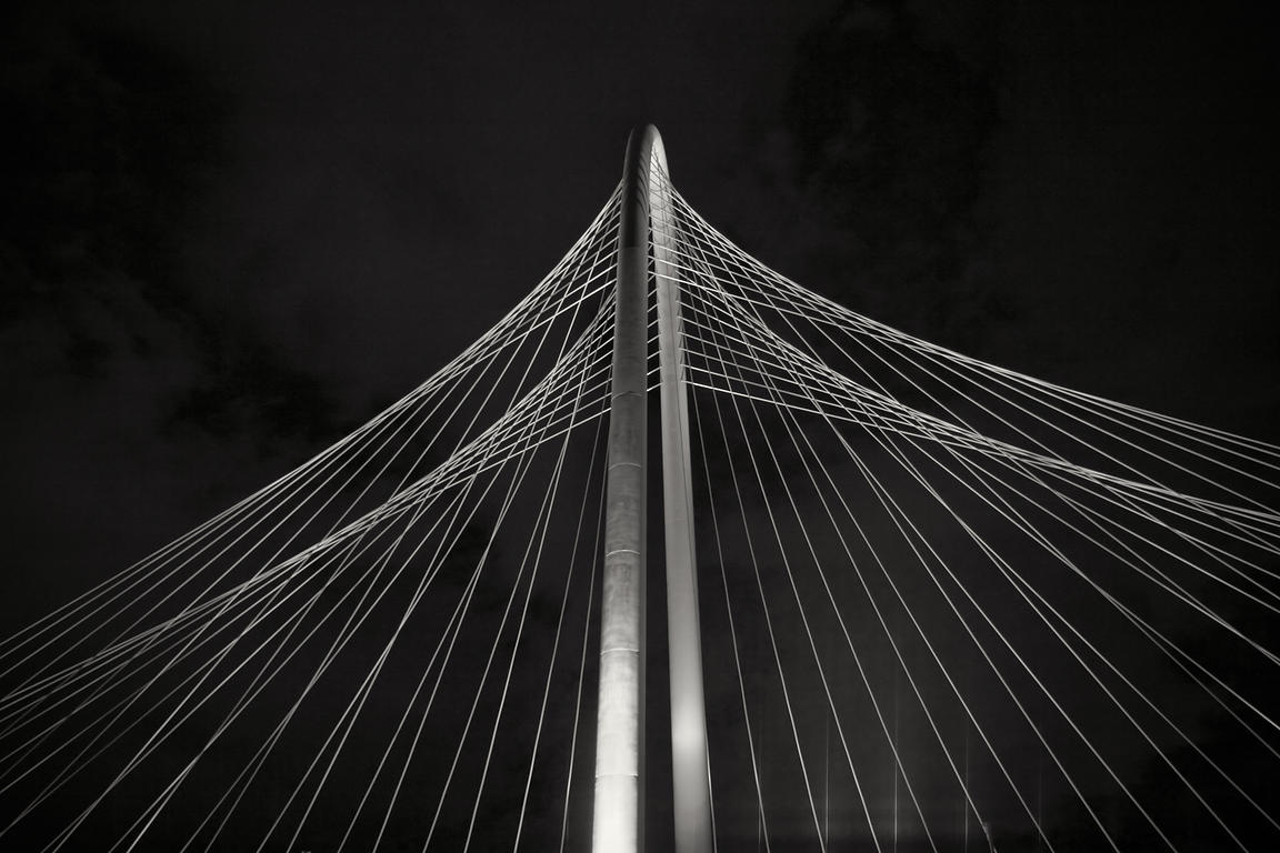 The Margaret Hunt Hill Bridge at Night