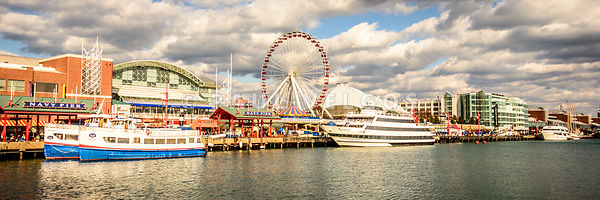 Navy Pier Chicago Panoramic Photo