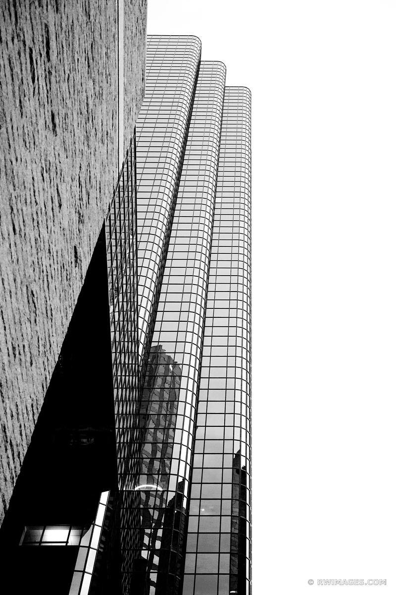 MODERN ARCHITECTURE DOWNTOWN BOSTON BLACK AND WHITE