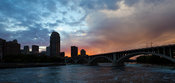 Stormy sunset over 10th Avenue Bridge