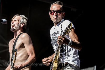 Jay Bentley, bass, and Brett Gurewitz, guitar, Bad Religion, Aftershock 2014