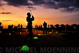 Glow in the dark driving range