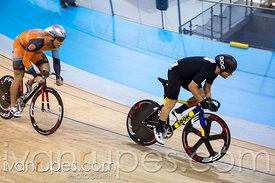 Master A Men Sprint 1-2 Final. Canadian Track Championships, Mattamy National Cycling Centre, Milton, On, September 25, 2016