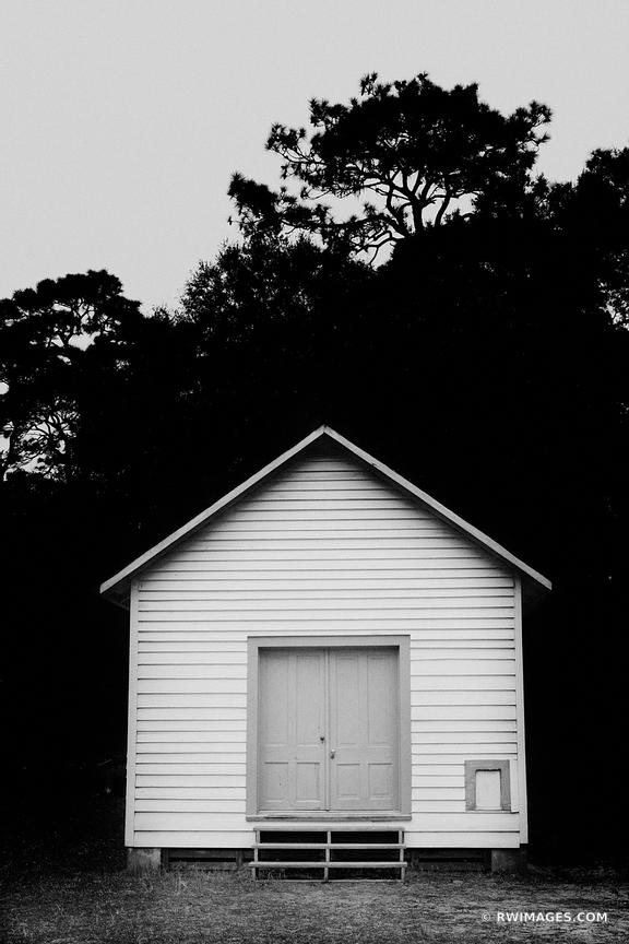 FIRST AFRICAN BAPTIST CHURCH CUMBERLAND ISLAND GEORGIA BLACK AND WHITE