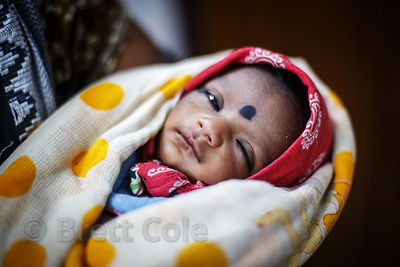 Infant at a health clinic in Howrah, India