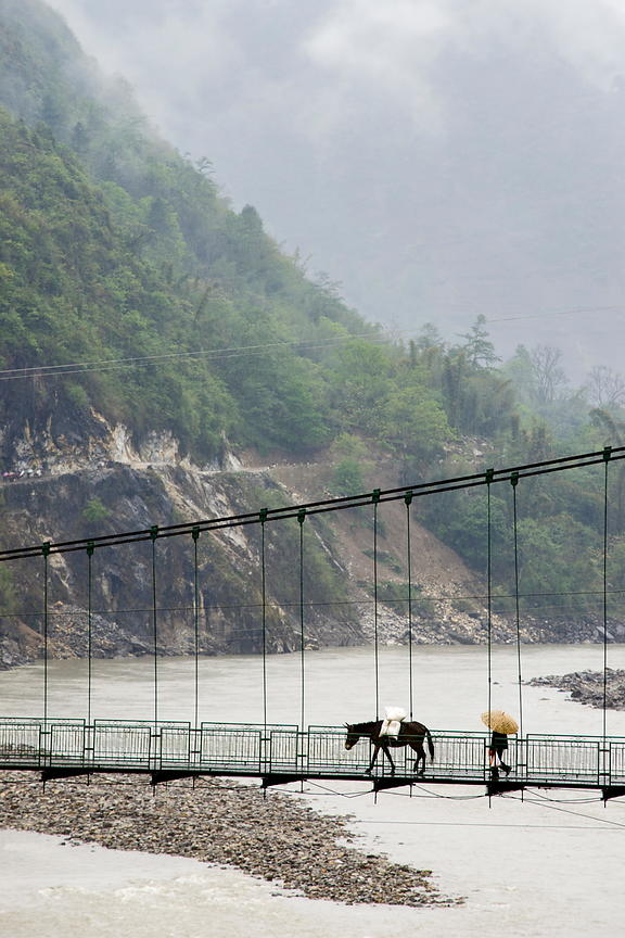 Footbridge on Nujiang