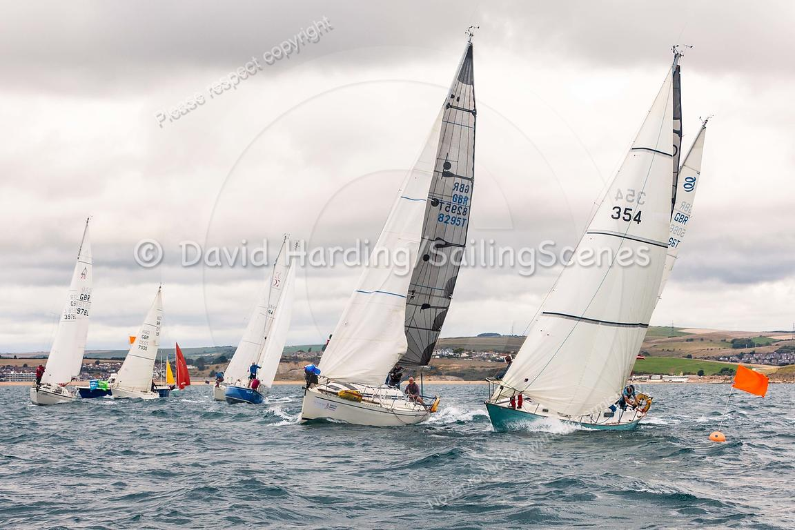 IRC 4 start, Weymouth Regatta 2018, 201809081109.