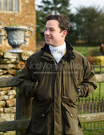 Toby Greenall At the meet. The Belvoir Hunt meet at Waltham House 22/12