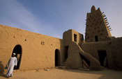 Djingareiber Mosque was built in 1325 and is a world heritage site, Timbuktu, Mali