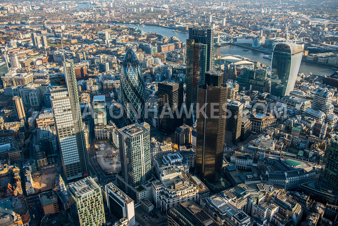 Aerial view of the City, London