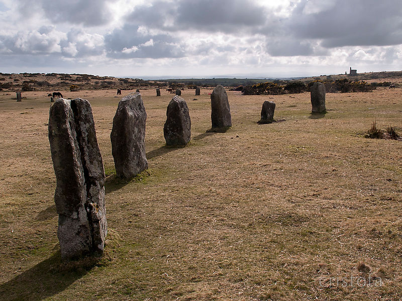the Hurlers on Bodmin Moor