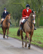 arriving at the meet - The Cottesmore Hunt at Burley 21/1