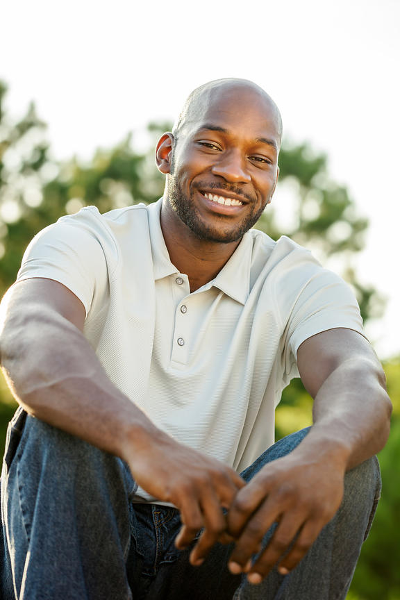 Handsome Black Man Smiling Portrait