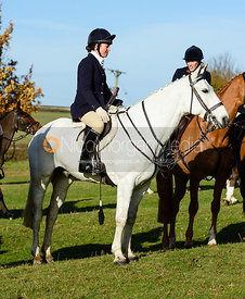 Harriet Rimmer at the meet. The Belvoir Hunt at Debdale Farm 10/11
