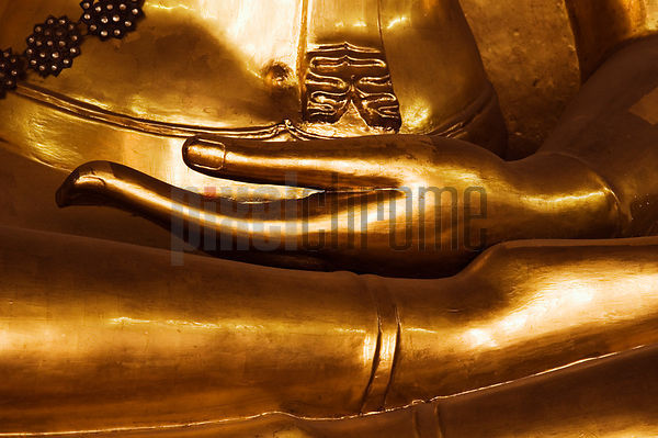 Close-up of Hands of a Buddha Statue, Bangkok, Thailand